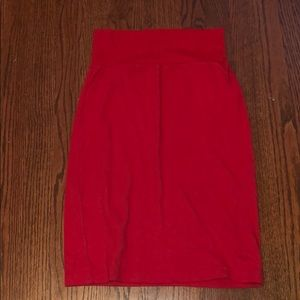 Hi waist spandex skirt - American Apparel